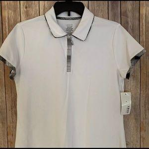 IZOD CLASSIX women's golf shirt zip collar 🏌️♀️